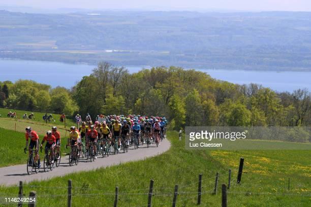 Peloton / Landscape / Lake / during the 73rd Tour de Romandie 2019, Stage 1 a 168,4km stage from Neuchâtel to La Chaux-de-Fonds 990m / ITT / #TDR2019...