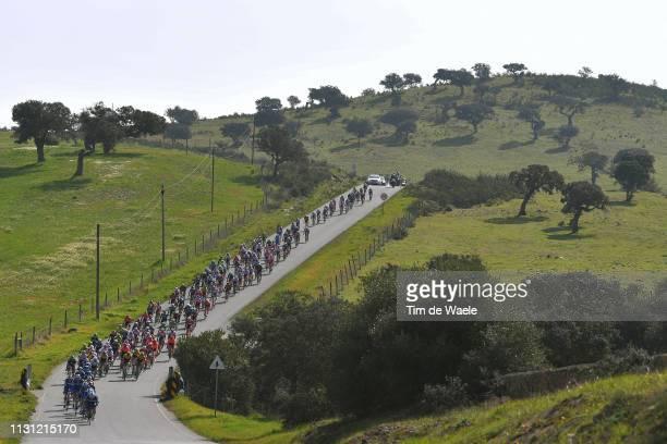 Peloton / Landscape / Mountains / during the 45th Volta ao Algarve, Stage 2 a 187,4 km stage from Almodôvar to Alto Da Fóia 900m / VA / @VAlgarve2019...