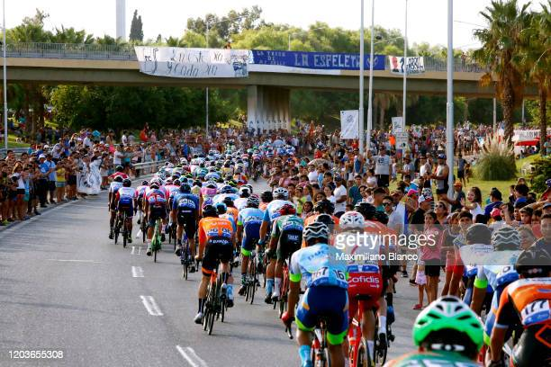 Peloton / Landscape / Public / Fans / during the 38th Vuelta a San Juan International 2020, Stage 7 a 141,3km stage from San Juan to San Juan /...