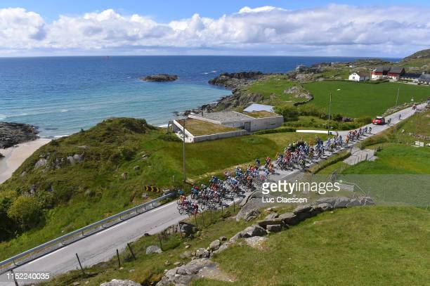 Peloton / Landscape / Sea / during the 9th Tour of Norway 2019 Stage 1 a 1682km stage from Stavanger to Egersund / @tourofnorway / #TourOfNorway / on...