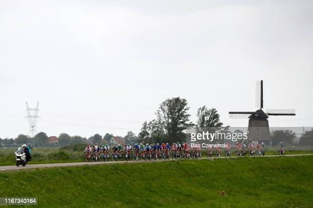 Peloton / Landscape / Windmill / during the 25th UEC Road European Championships 2019 - Elite Men's Road Race a 172,6km race from Alkmaar to Alkmaar...