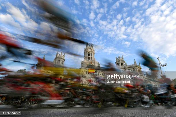 Peloton / Madrid Town Hall / Plaza Cibeles / Landscape / during the 74th Tour of Spain 2019, Stage 21 a 106,6km stage from Fuenlabrada to Madrid /...