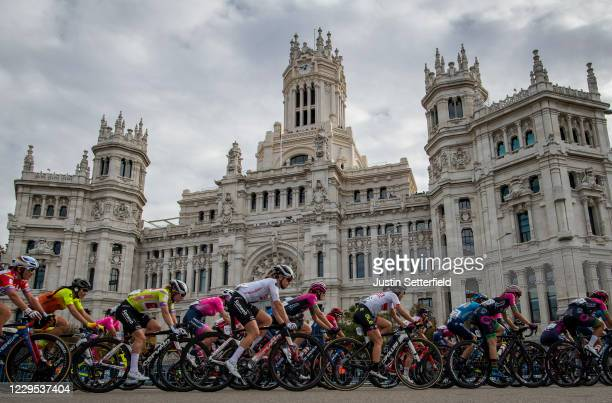 Peloton / Madrid Town Hall / Plaza Cibeles / Madrid City / Landscape / during the 6th Ceratizit Challenge by La Vuelta 2020, Stage 3 a 100,5km stage...