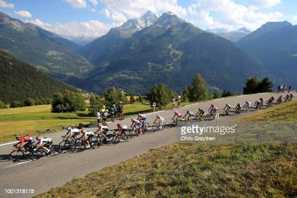 Peloton / Mountains / Fans / Public / Landscape / during the 105th Tour de France 2018 Stage 11 a 1085km stage from Albertville to La Rosiere Espace...