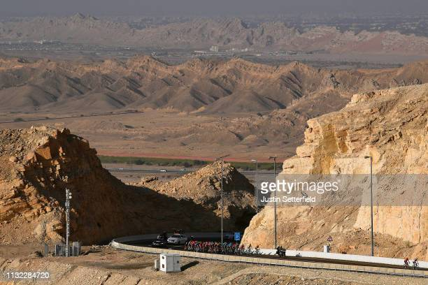 Peloton / Mountains / Landscape / during the 5th UAE Tour 2019, Stage 3 a 179km stage from Al Ain to Jebel Hafeet 1024m / #UAETour / on February 26,...