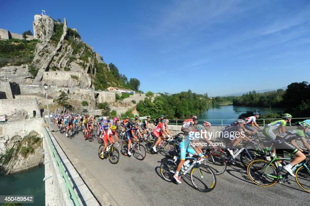 Peloton near Sisteron during Stage Five of the Criterium du Dauphine on June 12, 2014 between Sisteron and La Mure, France.