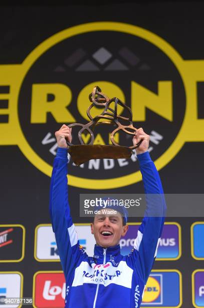 Peloton / Niki Terpstra of The Netherlands and Team Quick-Step Floors / Celebration / during the 102nd Tour of Flanders 2018 - Ronde Van Vlaanderen a...