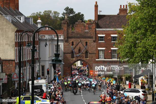 Peloton / North Bar /Beverley City / Landscape / Start / during the 4th Tour of Yorkshire 2018 Stage 1 a 182km stage from Beverley to Doncaster on...