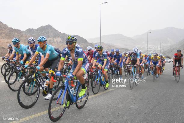 Peloton of riders in action during the fourth stage, a 118km from Yiti to Ministry of Tourism in Muscat, at the 2017 cycling Tour of Oman. On Friday,...