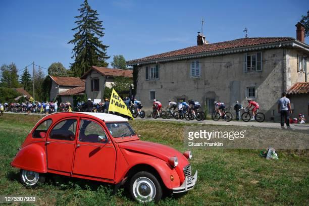 Peloton / Public / Fans / Classic Cars / Chavannes Sur Suran Village / Landscape / during 107th Tour de France 2020, Stage 19 a 166,5km stage from...