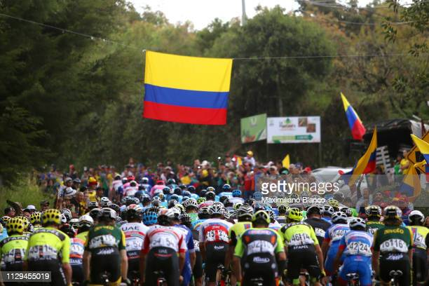 Peloton / Public / Fans / Flag / Landscape / during the 2nd Tour of Colombia 2019 Stage 2 a 1505km stage from La Ceja to La Ceja / @TourColombiaUCI /...