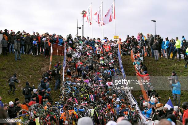 Peloton / Public / Fans / Landscape / during the 15th World Cup Nommay, Women Elite / @UCI_CX / #TelenetUCICXWC / on January 19, 2020 in Nommay,...