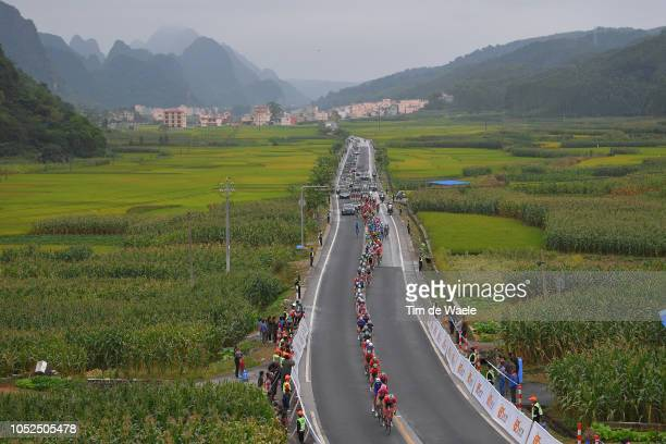 Peloton / Public / Fans / Landscape / during the 2nd Tour of Guangxi 2018 Stage 4 a 1522km stage from Nanning to Mashan NonglaScenic Area 443m / Gree...
