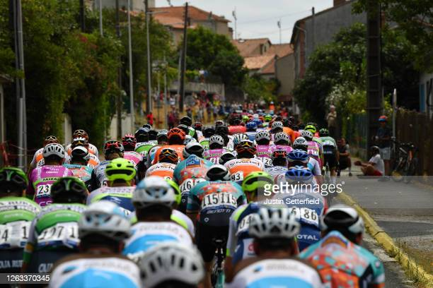 Peloton / Public / Fans / Village / Landscape / during the 44th La Route d'Occitanie La Depeche du Midi 2020 Stage 2 a 1745km stage from Carcassonne...