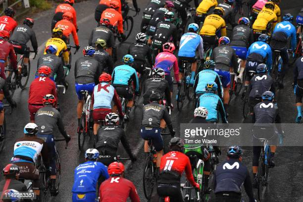 Peloton / Rain / Detail view / during the 102nd Giro d'Italia 2019, Stage 5 a 140km stage from Frascati to Terracina / Tour of Italy / #Giro /...