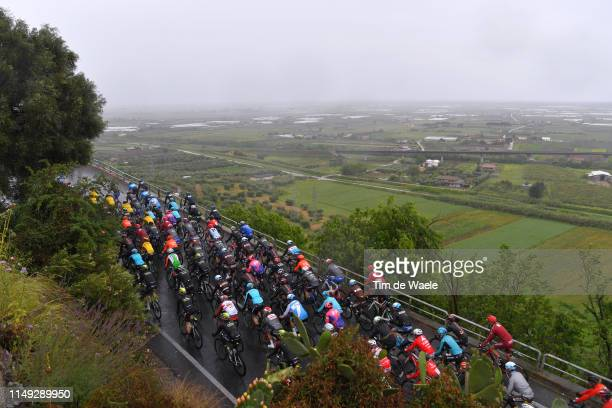 Peloton / Sezze / Landscape / during the 102nd Giro d'Italia 2019, Stage 5 a 140km stage from Frascati to Terracina / Tour of Italy / #Giro /...
