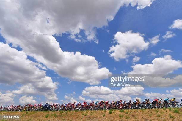 Peloton / Sky / Landscape / during the 105th Tour de France 2018, Stage 1 a 201km from Noirmoutier-En-L'ile to Fontenay-le-Comte on July 7, 2018 in...