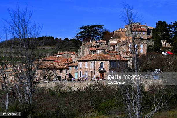 Peloton / Village / Landscape / during the 78th Paris Nice 2020 Stage 6 a 1615km stage from Sorgues to Apt 234m / #ParisNice / @parisnicecourse / PN...