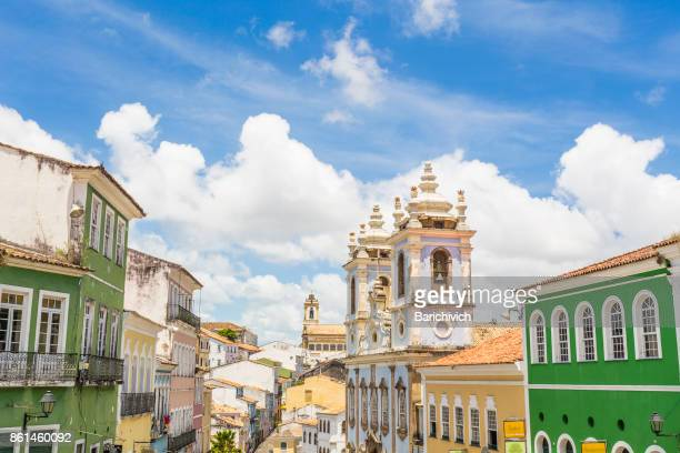 Pelourinho in a clear day in Bahia.