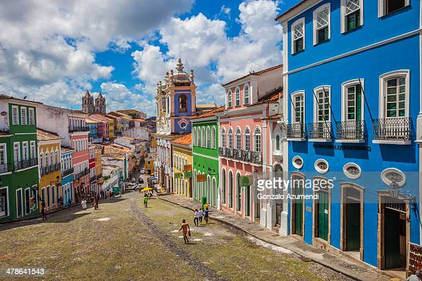 pelourinho in salvador de bahia. - brazil stock pictures, royalty-free photos & images
