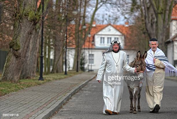Pelplin Poland 20th March 2016 Christians attend the Palm Sunday procession on March 20 2016 in Pelpin Poland Palm Sunday falls on the Sunday before...