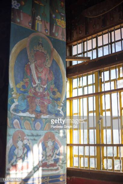 pemayangtse monastery in pelling, sikkim, india. - sikkim stock pictures, royalty-free photos & images