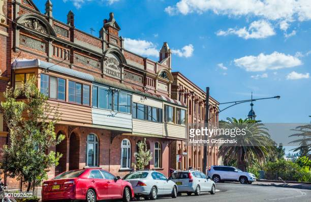 pembridge terrace east newcastle - newcastle new south wales stock pictures, royalty-free photos & images