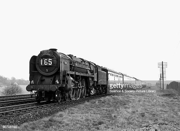 Pembroke Coast Express at Twyford Berkshire 2 April 1955 British Railways Standard Class 7P6F 462 steam locomotive No 70015 'Apollo' with the...