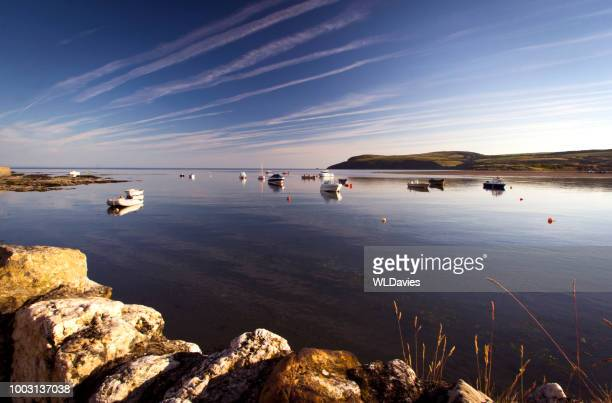 pembrokeshire coastline - newport wales stock pictures, royalty-free photos & images