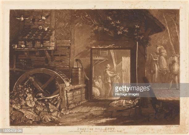 Pembury Mill, Kent, published 1808. Artist JMW Turner.