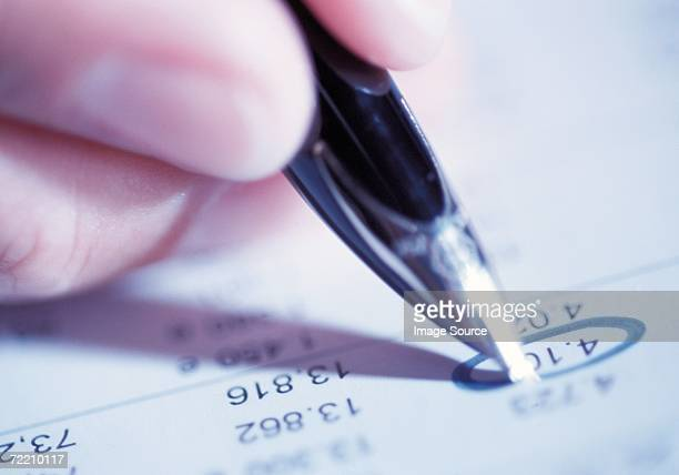 pen and bank statement - mission statement stock photos and pictures