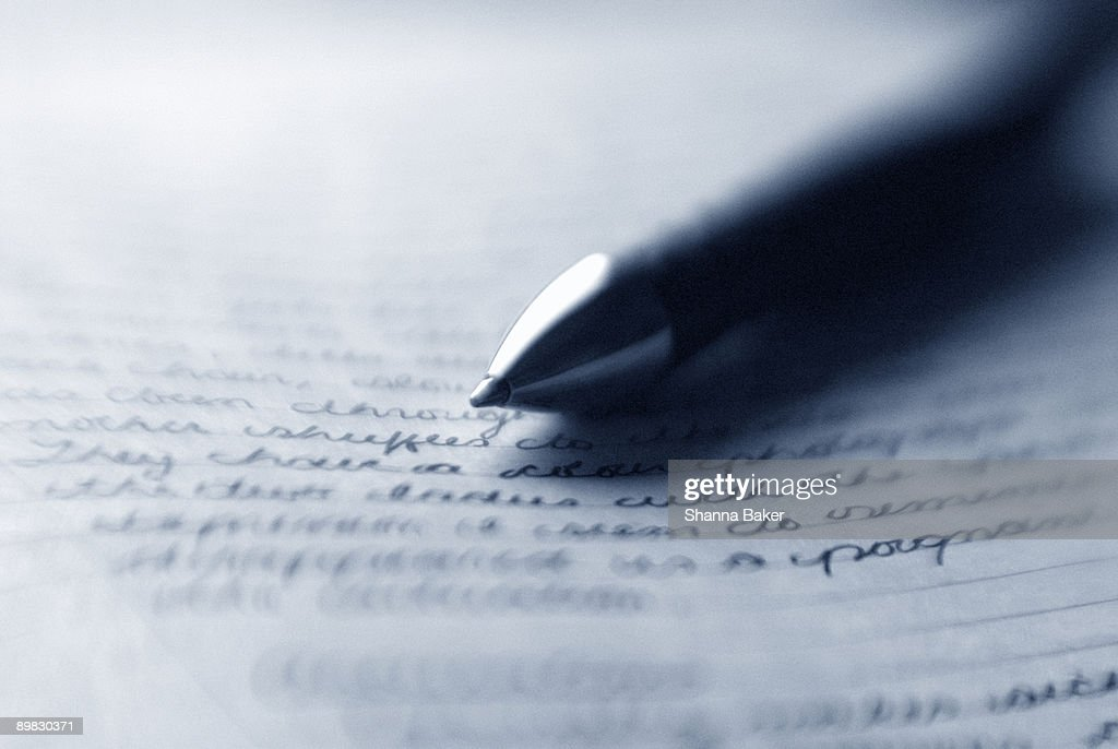 Pen and notebook : Stock Photo