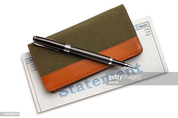 pen checkbool & bill - paid stock pictures, royalty-free photos & images