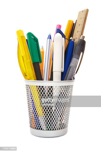 pen holder - ballpoint pen stock photos and pictures