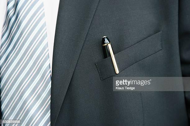 Pen inside blazer pocket