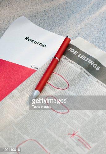resume listings