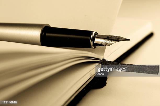 Stift auf dem notebook