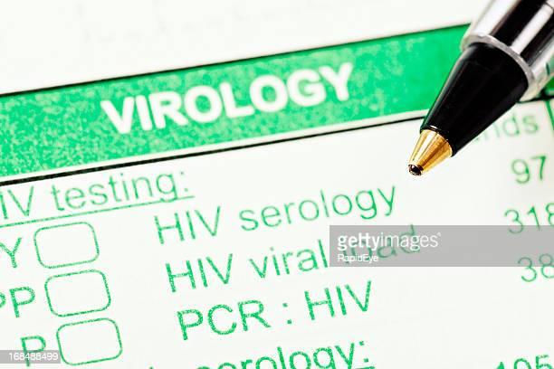 Caneta em forma de Virologia ensaios relacionados com o VIH/SIDA
