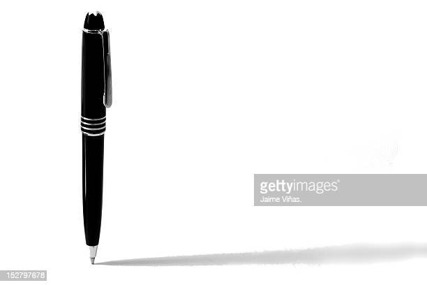 pen standing without any balance - stift stock-fotos und bilder