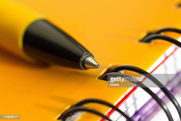 pen with notebook - lutavia stock pictures, royalty-free photos & images