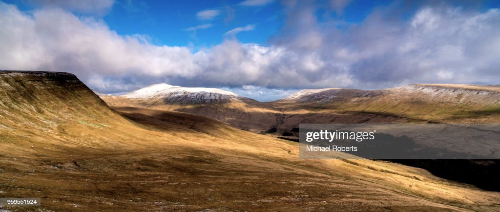 Pen y Fan and the Brecon Beacons in Wales. : Stock-Foto