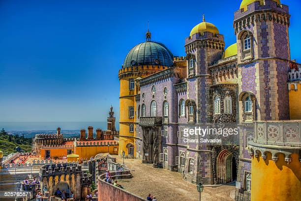 pena national palace in sintra - portugal stock pictures, royalty-free photos & images