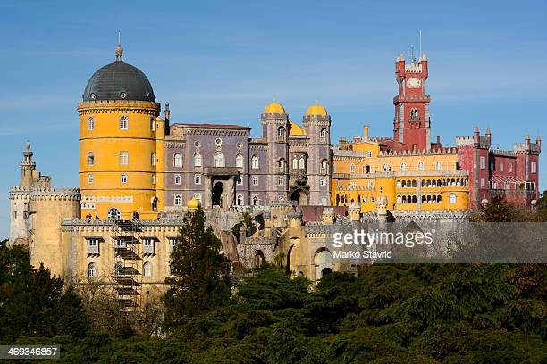 CONTENT] Pena Palace a UNESCO World Heritage Site next to the town of Sintra