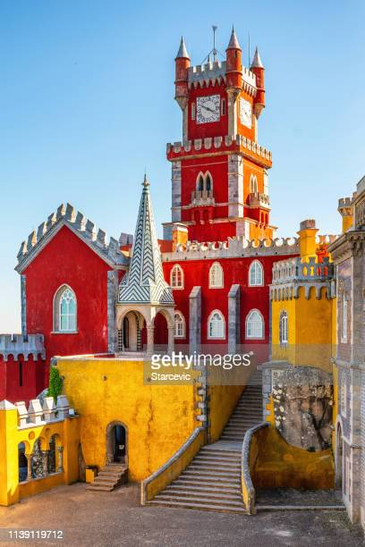 pena palace in portugal - sintra stock pictures, royalty-free photos & images