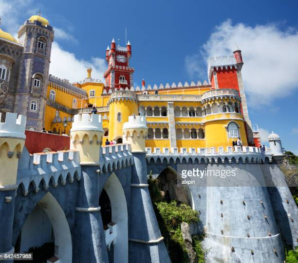 pena palace, sintra - sintra stock pictures, royalty-free photos & images
