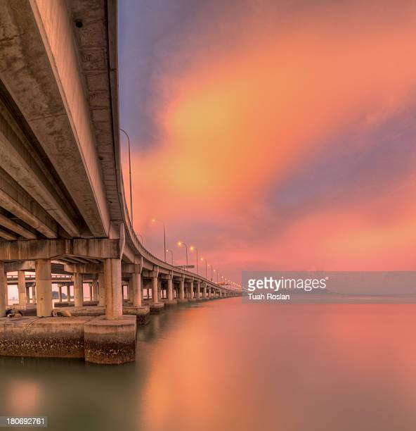 Penang Bridge at Dusk