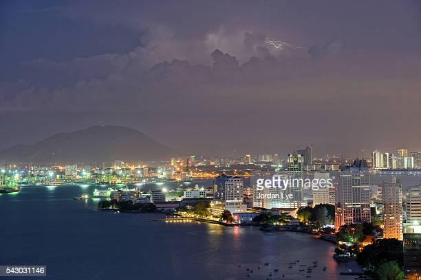 Penang night cityscape