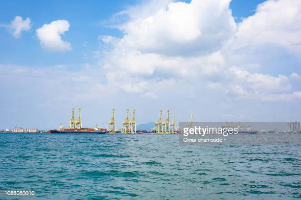 Penang Port, Butterworth shot from the sea