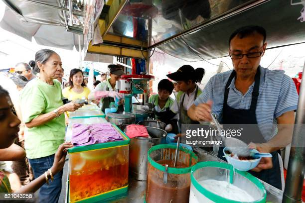 penang road famous teochew chendul georgetown penang - george town penang stock photos and pictures