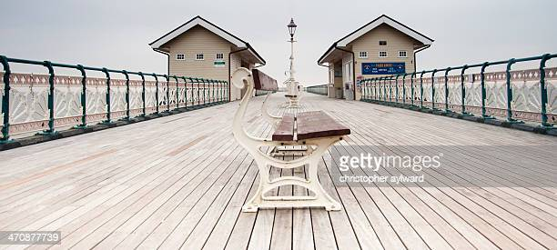 Penarth Pier is a Victorian pier in Penarth in the Vale of Glamorgan near Cardiff. This is a picture of the wooden decking and the piers wonderful...